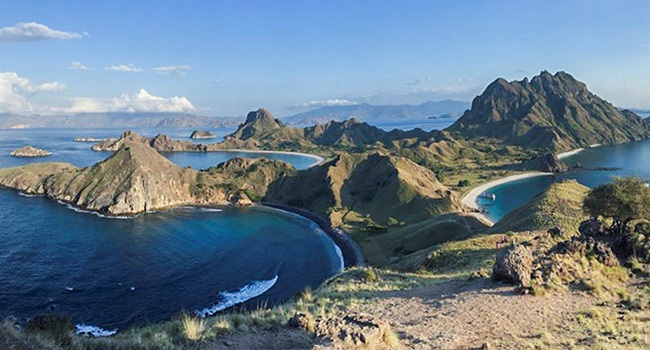 Padar Island is one a favorite tour destination in Indonesia