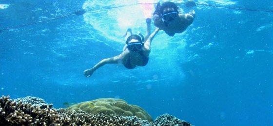 Glass bottom tour on Nusa Lembongan